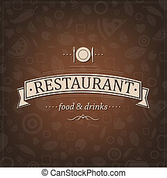 Retro Brown Restaurant Menu