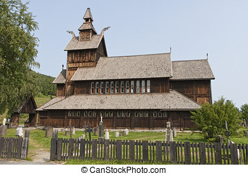 The Stave Church at Uvdal - Uvdal Stave Church in the...