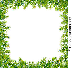 Christmas Green Framework, Vector Illustration