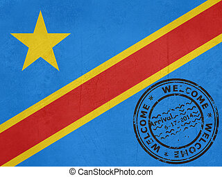Welcome to the Democratic of the Congo flag with passport...