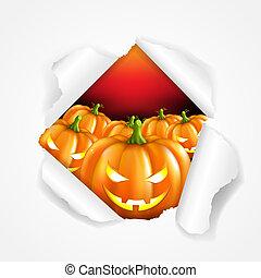 Retro Halloween Poster, With Gradient Mesh, Vector...