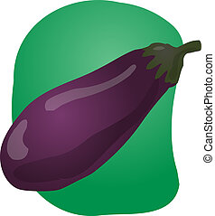 Eggplant illustration - Sketch of an eggplant Hand-drawn...