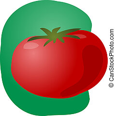 Tomato illustration - Sketch of a tomato Hand-drawn lineart...