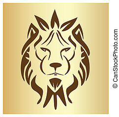 Lion face vintage logo vector