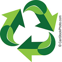 Green recycle logo symbol