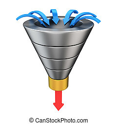 Conversion funnel - Purchase funnel illustrating the...