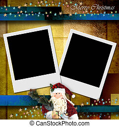 photo frame merry christmas card