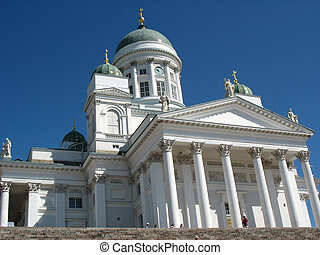 Helsinki's cathedral - Finnish lutheran cathedral in...