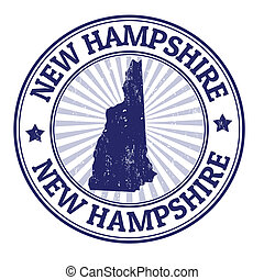New Hampshire stamp - Grunge rubber stamp with the name and...