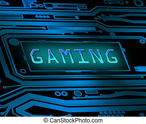 Gaming concept - Abstract style illustration depicting...