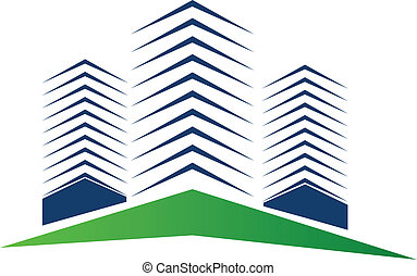 Real estate buildings logo vector background