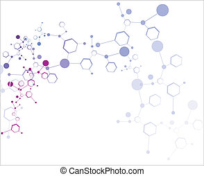Molecule background - Abstract colorful molecular structure...