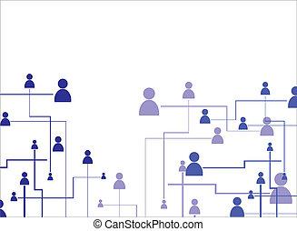 Human connection on the white background, vector...