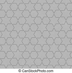 Gray Hexagon Patterned Textured Fabric Background that is...