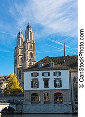 Grossmunster Church in Zurich, Switzerland