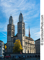 Grossmunster Church in Zurich, Switzerland