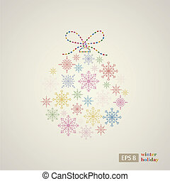 Decoration snowflakes event ball Vector illustration