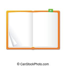 Vector empty open book