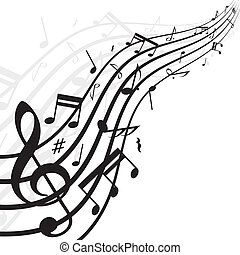 Music notes background - White background with music notes....
