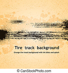Tire track background - Grunge tire track background eps10