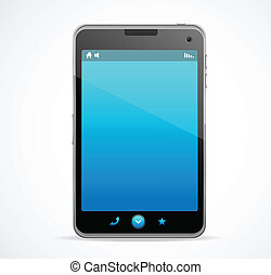 Smart Phone With blue screen