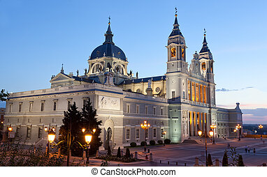 Santa Maria la Real de La Almudena - Cathedral in Madrid,...
