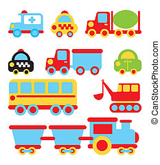 transport design - transport design over white background...