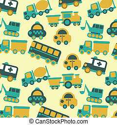 transport design - transport design over cream background...