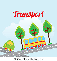 transport design over sky background vector illustration