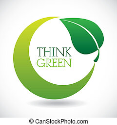 think green design - think green design over gray background...