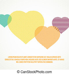 Striped heart. - Striped heart background. Vector...