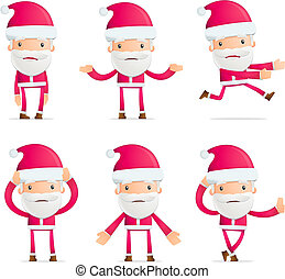Santa in various poses