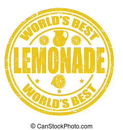 Lemonade stamp - Grunge rubber stamp with the word Lemonade...