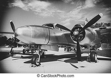 World War ll Aircraft - Black and White WWll aircraft