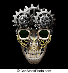 Steam punk skull