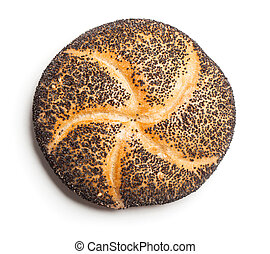 Poppy seed bread roll (Mohnbroetchen) - Bread roll covered...