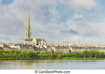 Bordeaux at a summer day - View of Bordeaux at a summer day