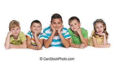 Five children