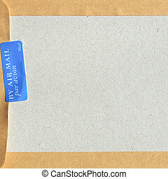 Airmail - Detail of letter envelope for airmail post