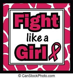 Breast Cancer Awareness-Fight like - square, background,...