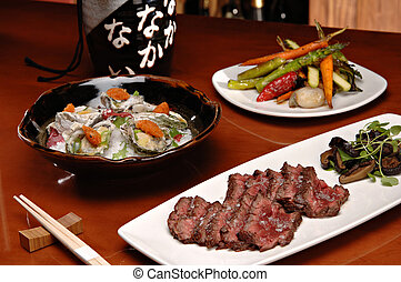 Kobe Beef Filet Mignon - Deliciously displayed slices of...