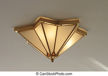 ceiling light - star shaped light fitted flush to the...