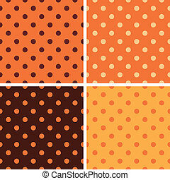 Thanksgiving dotted retro pattern collection