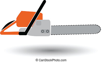 chainsaw isolated color vector illustration