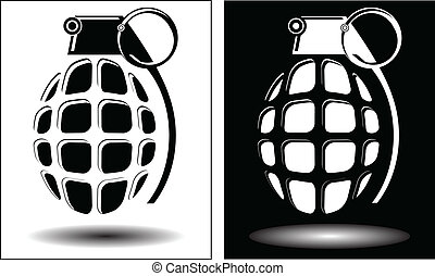 grenades - Two different images grenades isolated vector