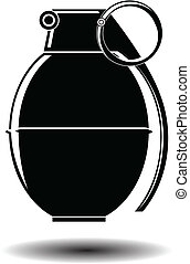 hand grenade illustration vector