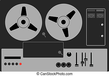 tape recorder vector illustration
