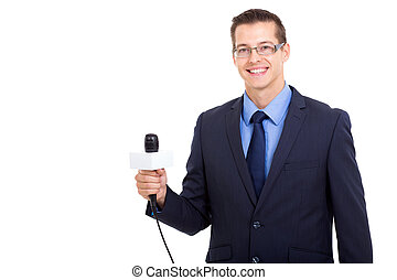 young professional journalist portrait - portrait of...