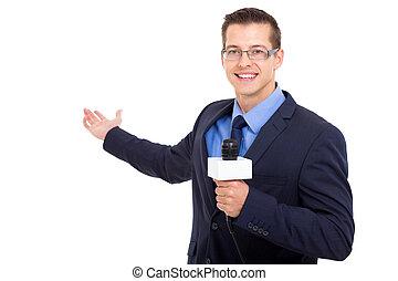 news journalist reporting
