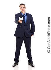 noticias, reportero, Entrevistar